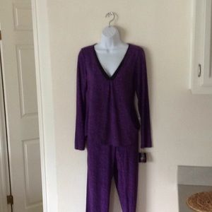 Purple slinky women's pajamas